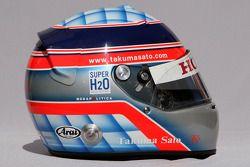 Takuma Sato, Super Aguri F1, helmet