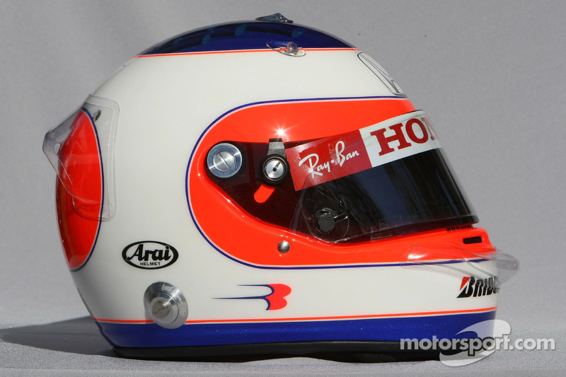 casque de rubens barrichello honda racing f1 grand prix d 39 australie photos formule 1. Black Bedroom Furniture Sets. Home Design Ideas