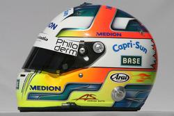 Adrian Sutil, Force India F1 Team, helmet