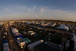 Sebring paddock overall view at sunset