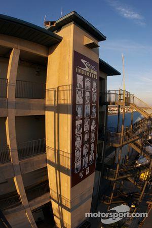 Sebring pit building sunset