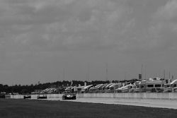 Practice action on the backstretch