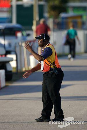 Traffic officer at work