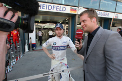 Nick Heidfeld, BMW Sauber F1 Team yalking with Peter Lauterbach [TV Premiere]