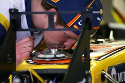 Mécaniciens du Team Renault