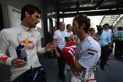 Mark Webber, Red Bull Racing and Jarno Trulli, Toyota Racing / Drivers group picture 2008