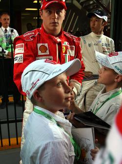 Kimi Raikkonen, Scuderia Ferrari  / Drivers group picture 2008