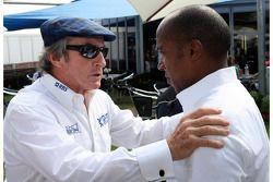 Jackie Stewart and Anthony Hamilton, Father of Lewis Hamilton