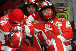 Pit stop for Ferrari Mechanics
