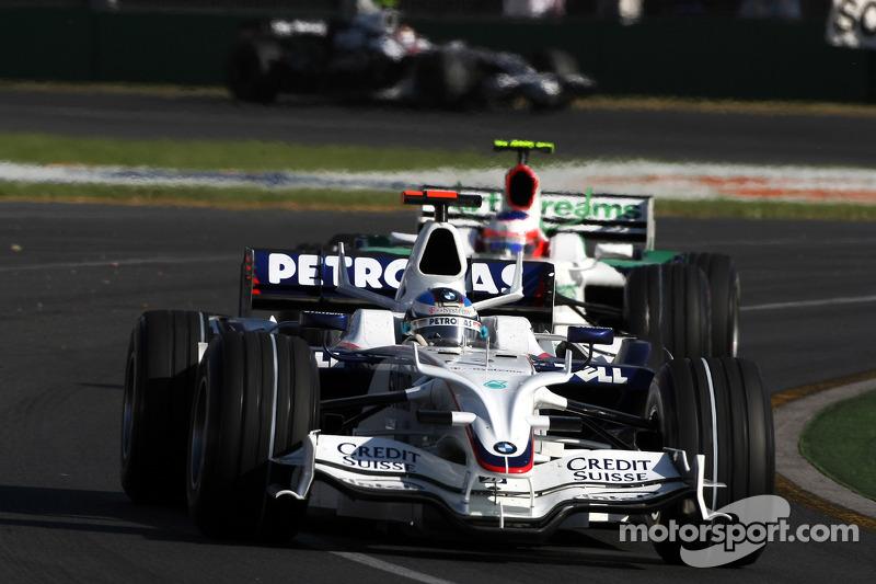 Nick Heidfeld, BMW Sauber F1 Team, Rubens Barrichello, Honda Racing F1 Team