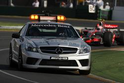 Safety car leads Heikki Kovalainen, McLaren Mercedes