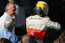 Ron Dennis, McLaren, Takım Patronu, Yönetim Kurulu Başkanı ve Lewis Hamilton, McLaren Mercedes