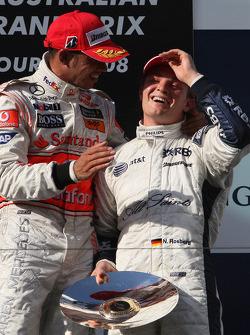 Lewis Hamilton, McLaren Mercedes et Nico Rosberg, WilliamsF1 Team