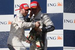 Nick Heidfeld, BMW Sauber F1 Team and Nico Rosberg, WilliamsF1 Team