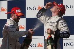 Nick Heidfeld, BMW Sauber F1 Team y Nico Rosberg, WilliamsF1 Team