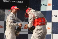 Nick Heidfeld, BMW Sauber F1 Team , Lewis Hamilton, McLaren Mercedes