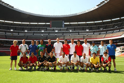 A1GP Drivers photo at the Azteca stadium