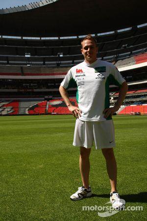 Adam Carroll, driver of A1 Team Ireland at the Azteca stadium