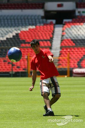 Bruno Serra, driver of A1 Team Portugal at the Azteca stadium
