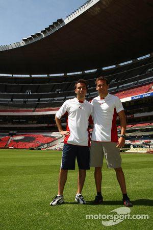 David Martinez, driver of A1 Team Mexico and David Garza, driver of A1 Team Mexico