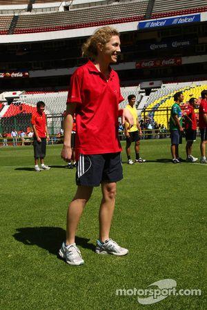 Rahel Frey, driver of A1 Team Switzerland at the Azteca stadium