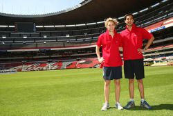 Rahel Frey, driver of A1 Team Switzerland and Neel Jani, driver of A1 Team Switzerland at the Azteca