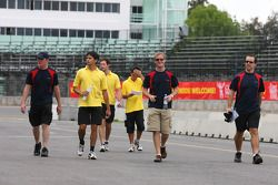 Alex Yoong, driver of A1 Team Malaysia and Jonathan Summerton, driver of A1 Team USA