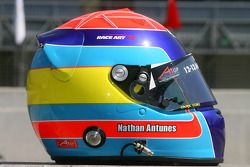 Nathan Antunes, driver of A1 Team Australia Helmet