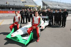 David Martinez, driver of A1 Team Mexico and David Garza, driver of A1 Team Mexico team photo