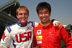 Jonathan Summerton, driver of A1 Team USA and Congfu Cheng, driver of A1 Team China