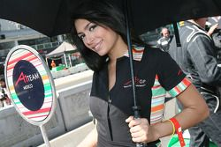Grid girl of David Garza, driver of A1 Team Mexico