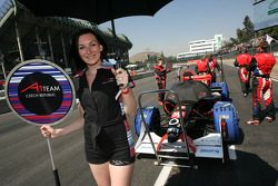 Grid girl of Filip Salaquarda, driver of A1 Team Czech Republic