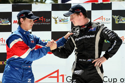 Oliver Jarvis, driver of A1 Team Great Britain and Jonny Reid, driver of A1 Team New Zealand