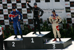 Oliver Jarvis, driver of A1 Team Great Britain, Jonny Reid, driver of A1 Team New Zealand and Neel Jani, driver of A1 Team Switzerland