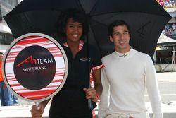 Neel Jani, driver of A1 Team Switzerland Grid girl