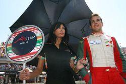 David Garza, driver of A1 Team Mexico Grid girl