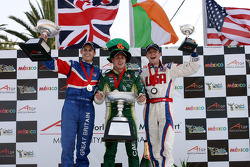 Oliver Jarvis, driver of A1 Team Great Britain, Adam Carroll, driver of A1 Team Ireland and Jonathan Summerton, driver of A1 Team USA
