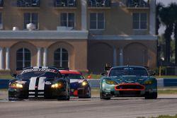 #11 Primetime Race Group Dodge Viper Competition Coupe: Joel Feinberg, Chris Hall, #008 Bell Motorsports Aston Martin DBR 9: Terry Borcheller, Chapman Ducote, Antonio Garcia