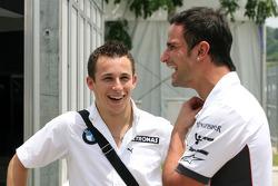 Christian Klien, Test Driver, BMW Sauber F1 Team, Vitantonio Liuzzi, Test Driver, Force India F1 Team