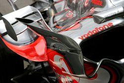 Détail de carrosserie de McLaren Mercedes