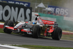 Adrian Sutil, Force India F1 Team, VJM-01, on the grass at the pit entrance