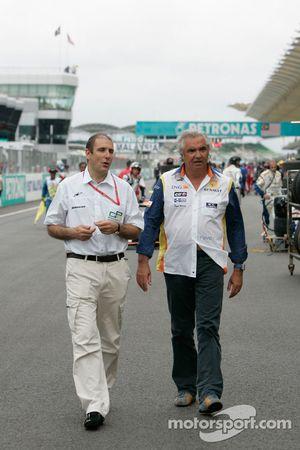 Бруно Мишель, глава GP2, и Флавио Бриаторе, руководитель Renault F1