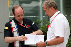 Neil Martin and motorsport consultant of Red Bull Helmut Marko