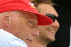 Niki Lauda, ancien champion du monde de F1 et RTL TV