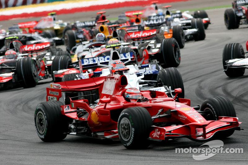 Start: Kimi Raikkonen, Scuderia Ferrari, F2008