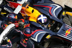 David Coulthard, Red Bull Racing during pitstop