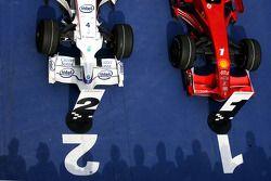 El coche ganador y el subcampeón