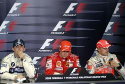 Press conference: race winner Kimi Raikkonen, second place Robert Kubica, third place Heikki Kovalainen