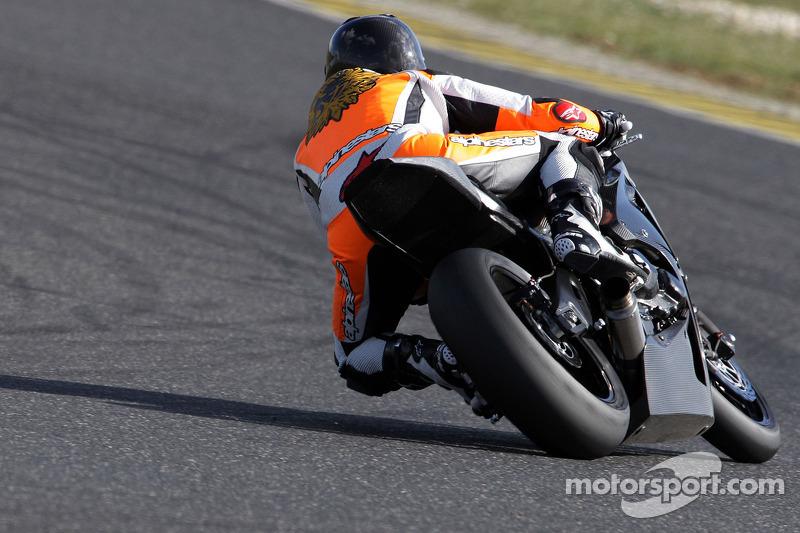Michael Schumacher drives the