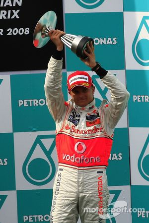 Podio: Heikki Kovalainen el tercer lugar